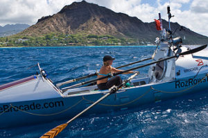 Roz Savage rows across the Pacific