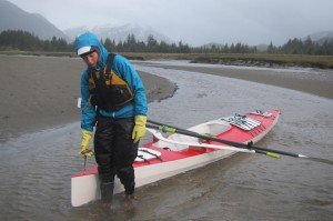 Caroline and Pat on voyaging 1100 miles up the Inside Passage to Alaska
