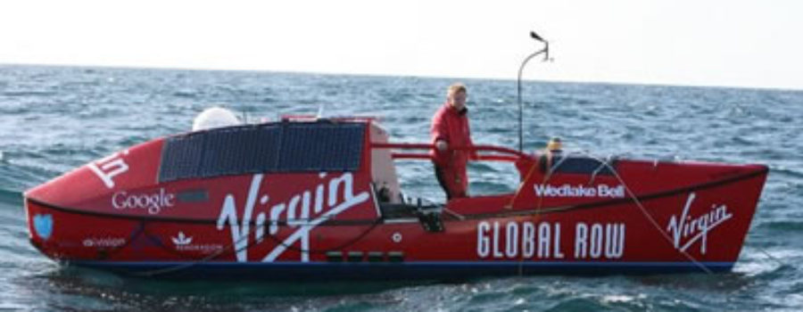 Englishman Oliver Hicks is striving to be the first to row around the world