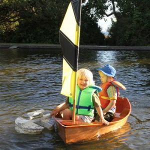 Leif sailing with his friend Noah.