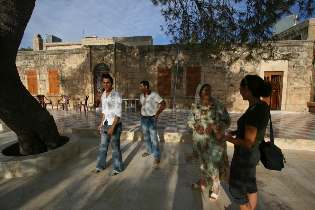 The family house and courtyard in Afrin.