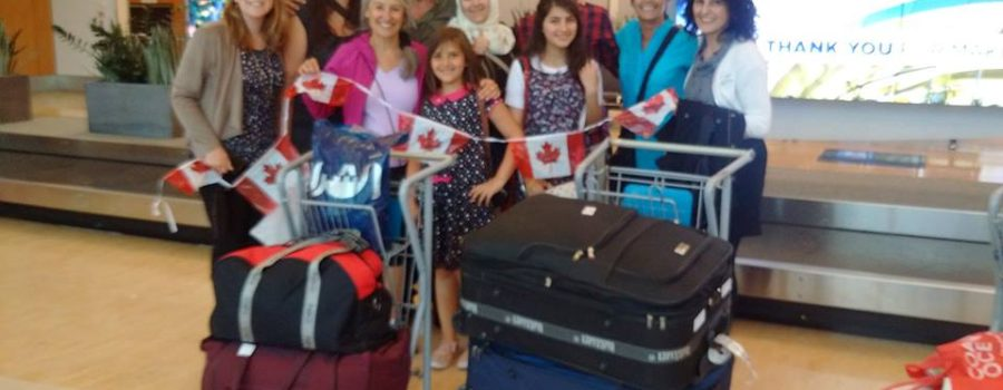 Our Syrian Family has reached Canada