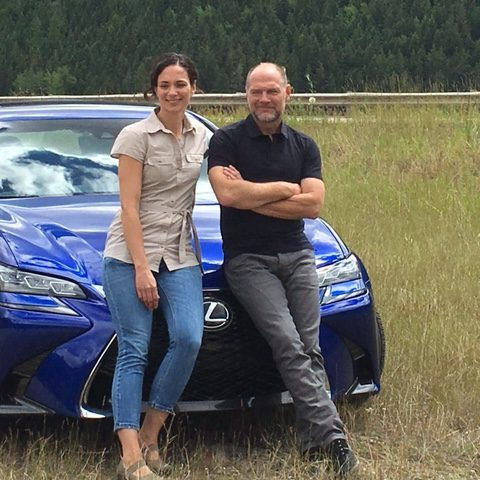 Meeting Survivorman, making a commercial and driving in the Rockies