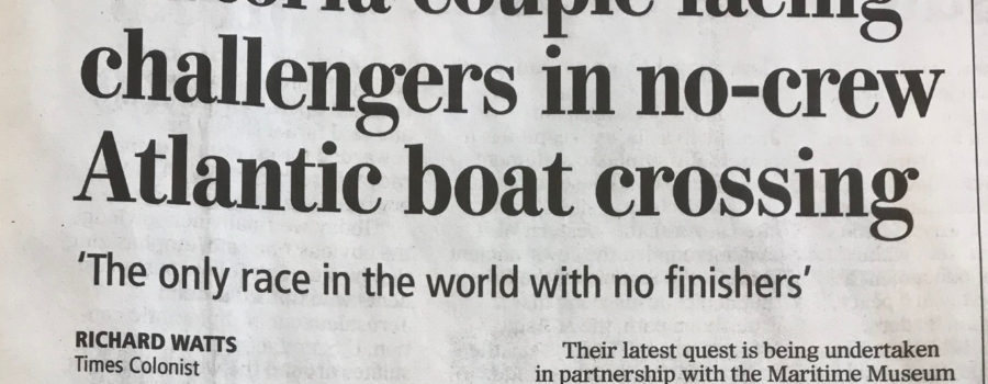 Autonomous Boat featured in today's Times Colonist